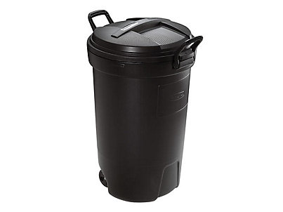 Astounding 32 Gal Wheeled Trash Can Rubbermaid Interior Design Ideas Gentotthenellocom