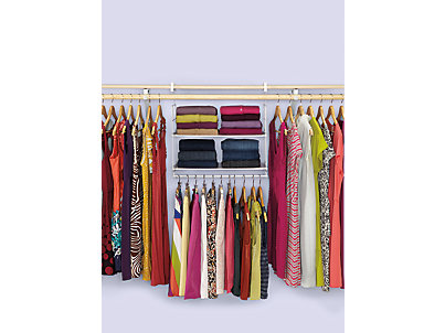 Closet Helper Shelf And Hang Unit Rubbermaid