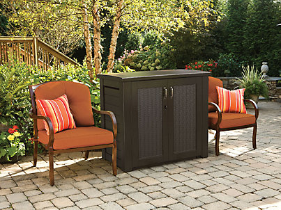 Superbe Outdoor Sheds U0026 Storage   Deck Boxes U0026 Patio Storage.  1T00_Patio_Cabinet_BlkOak_Main_Angled Xlarge. FEATURED PRODUCT. Patio  Series Storage Cabinet