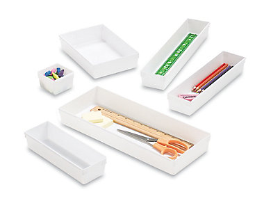 Home Plastic Drawer Organizers ____white