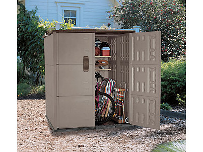 3673-d-platinum-mocha-5-xlarge  sc 1 st  Rubbermaid & Double Deep Modular Vertical Shed - DISCONTINUED | Rubbermaid