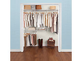 3-6 Ft. Deluxe Custom Closet Kit - White