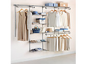 4-8 Ft. Deluxe Custom Closet Kit - Titanium