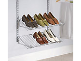 Rubbermaid Configurations Add-On Shoe Shelf Kit, Titanium