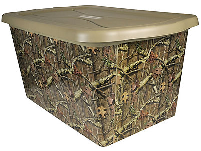 14 Gallon Mossy Oak 174 Tote Rubbermaid