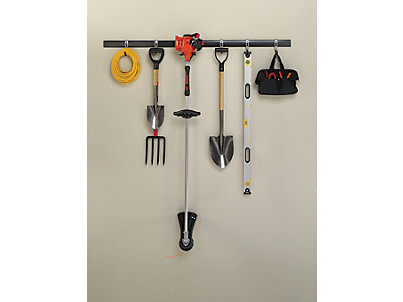 FastTrack 8-pc. Kit | Rubbermaid on rubbermaid fast track accessories, rubbermaid fast track 2 bicycles, rubbermaid fast track bike rack, lowe's rubbermaid fast track, rubbermaid fast track organizer, rubbermaid fast track system, garage wall track,