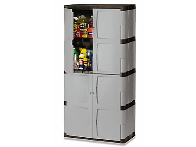 Perfect Rubbermaid Plastic Storage Cabinets Z Intended Decorating
