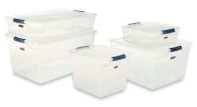 Clever Store Basic Latch Clear Lid Rubbermaid