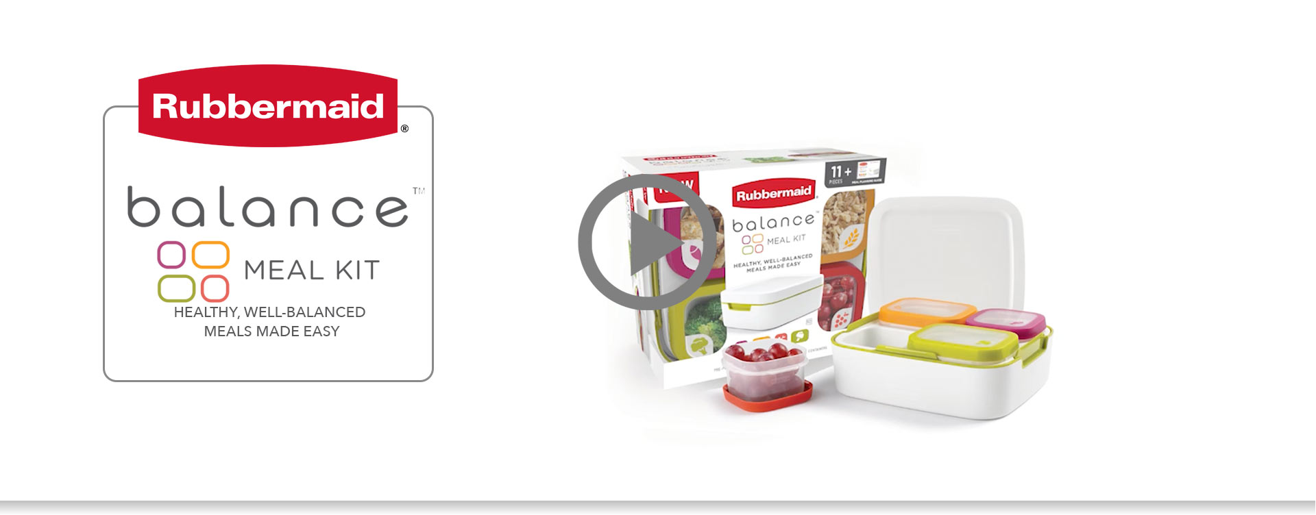 Rubbermaid Balance Meal Kit Bring Your Own Lunch Set Tupperware