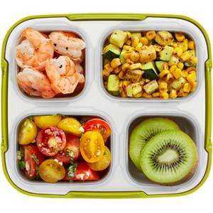 Roasted Shrimp, Corn and Zucchini with Tomato Salad