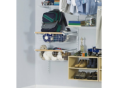 Sliding Wire Baskets With Wood Discontinued Rubbermaid