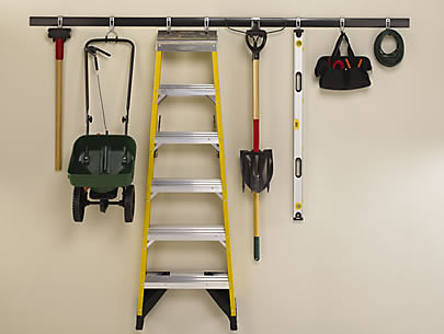 Garage Gains | Rubbermaid on lowe's rubbermaid fast track, rubbermaid fast track organizer, rubbermaid fast track system, rubbermaid fast track accessories, rubbermaid fast track 2 bicycles, garage wall track, rubbermaid fast track bike rack,