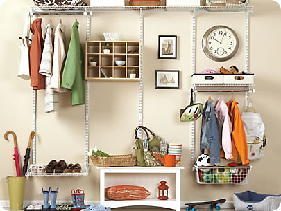 All You Need Are Some Basic Tools To Create A Mudroom. The Configurations  Classic Closet Kit (3G93) Installs Quickly And Expands To Fit Any 4  To  8 Foot ...