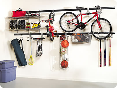 Wonder Wall Rubbermaids FastTrack Garage Organizer And Accessories Creates Upper Lower Levels Of Storage For The Perfectly Organized