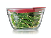 4 Cup Glass Container