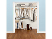 3-6 Ft. Deluxe Custom Closet Kit - Titanium