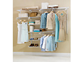 4-8 Ft. Deluxe Custom Closet Kit - White
